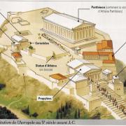 Comment s'appelaient les deux principaux temples d'Athènes consacrés à Athéna ?