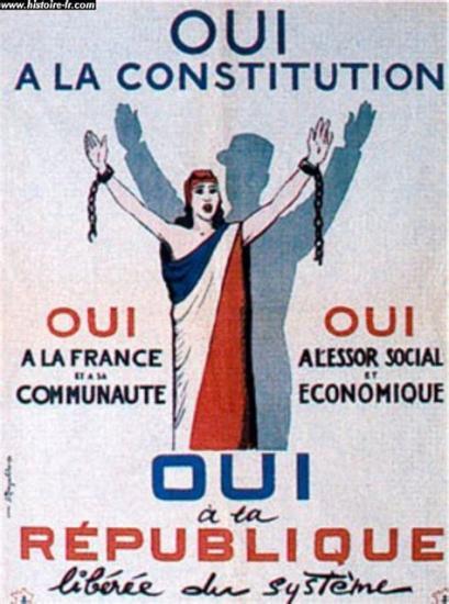 Affiche referendum 1958