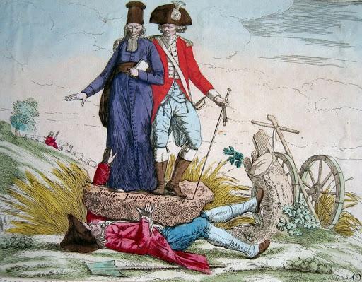 Que montrait cette gravure à propos de la société d'Ancien Régime ? (cliquez sur l'image)