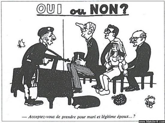 Caricature de gaulle 1958