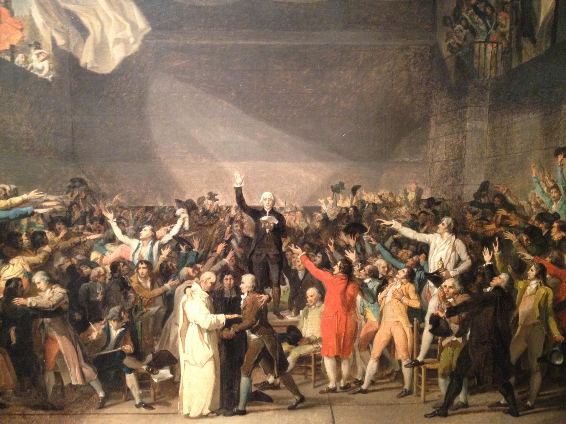 Quel peintre a réalisé un tableau très célèbre de cet événement ? (cliquez sur l'image)