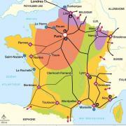 Sur cette carte, où est situé le Cœur Economique de la France ? (cliquez sur la carte pour l'agrandir)
